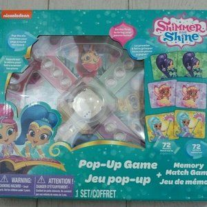 Shimmer and Shine Pop-Up Game and Memory Match